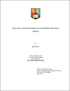 UBIRA ETheses - Structural analysis and design of cold formed steel