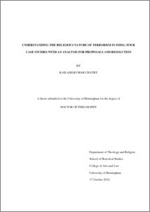 UBIRA ETheses - Understanding the religious nature of
