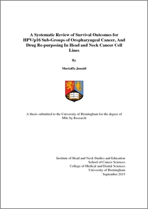 UBIRA ETheses - A systematic review of survival outcomes for HPV/p16