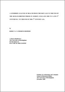 rebecca redfern thesis