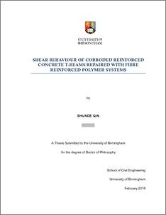 UBIRA ETheses - Shear behaviour of corroded reinforced concrete t