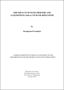 Mergers and acquisitions phd thesis